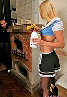 maid cleaning house