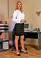 beautiful secretary